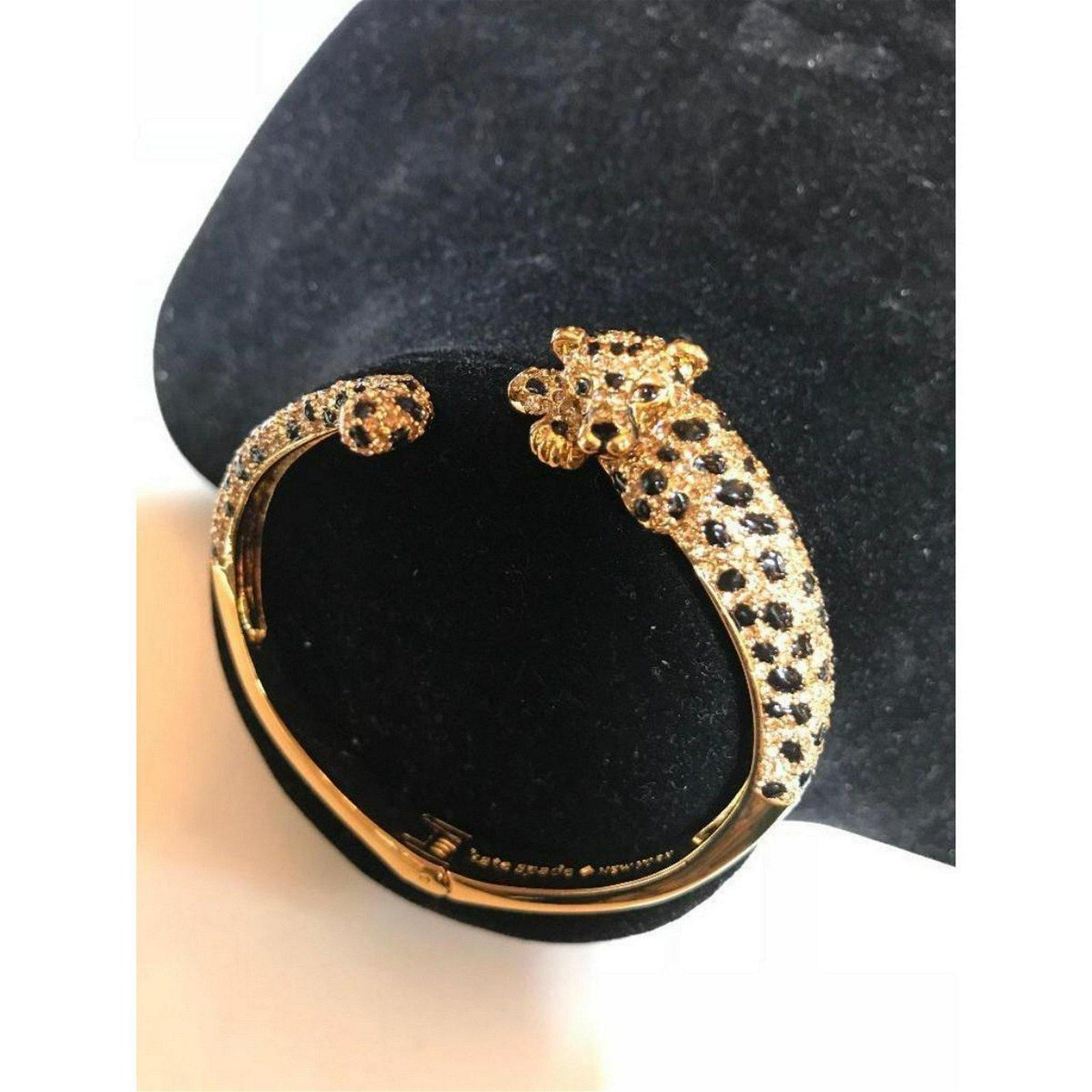Designer Kate Spade Enamel Gold Plate Little Cheetah