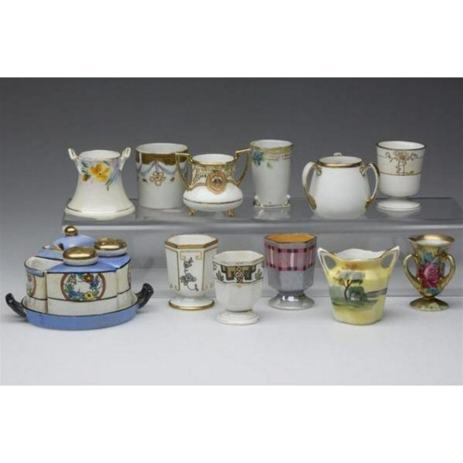 Vintage 16 Piece Collection China Toothpick Cups