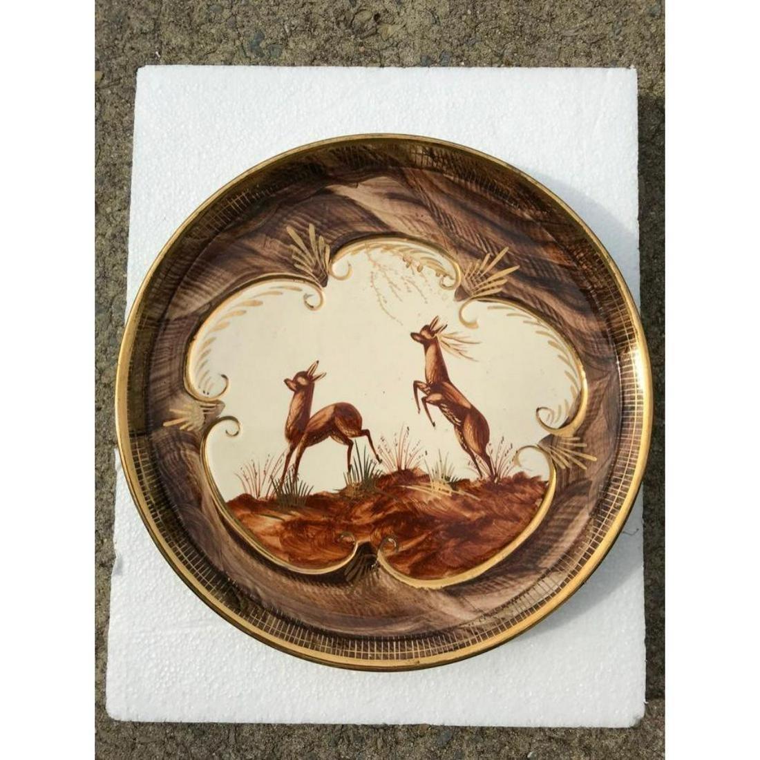 Vintage Art Deco Hubert Bequet Belgium Porcelain Deer
