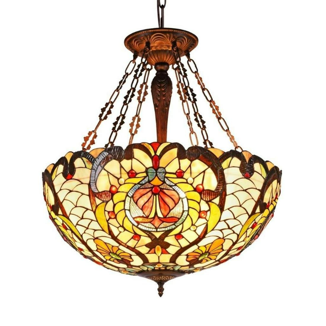 Tiffany-style Ceiling Pendant