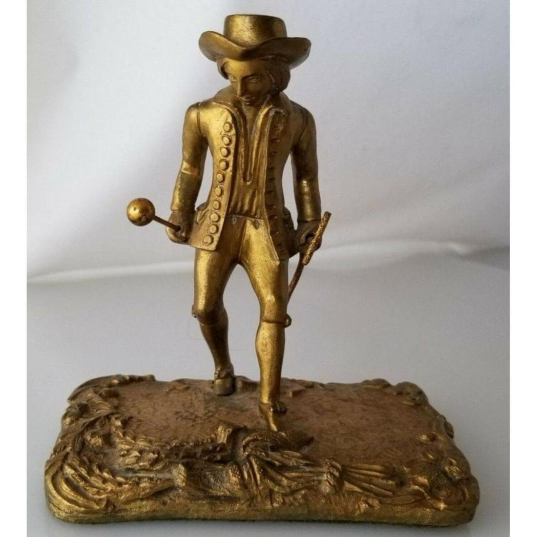 Late 19thc Victorian Gold Gilded Bronze Figure of a