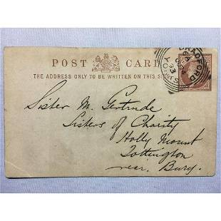 1893 London Original Postmarked Handwritten and Typed