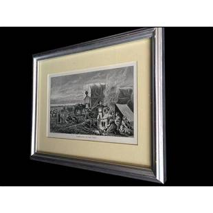 1881 Emigrants To The West Framed Lithograph