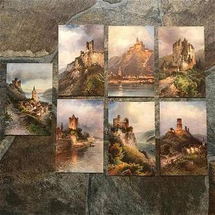 Group of Early 1900s Grand Tour Postcards Scenic