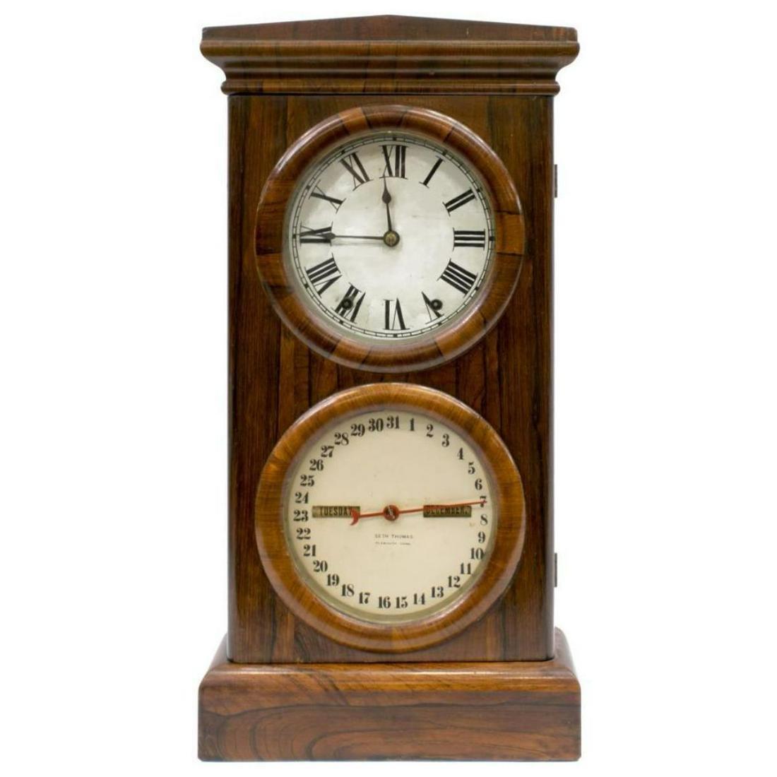 19thc Seth Thomas Rosewood Cased Calendar Clock