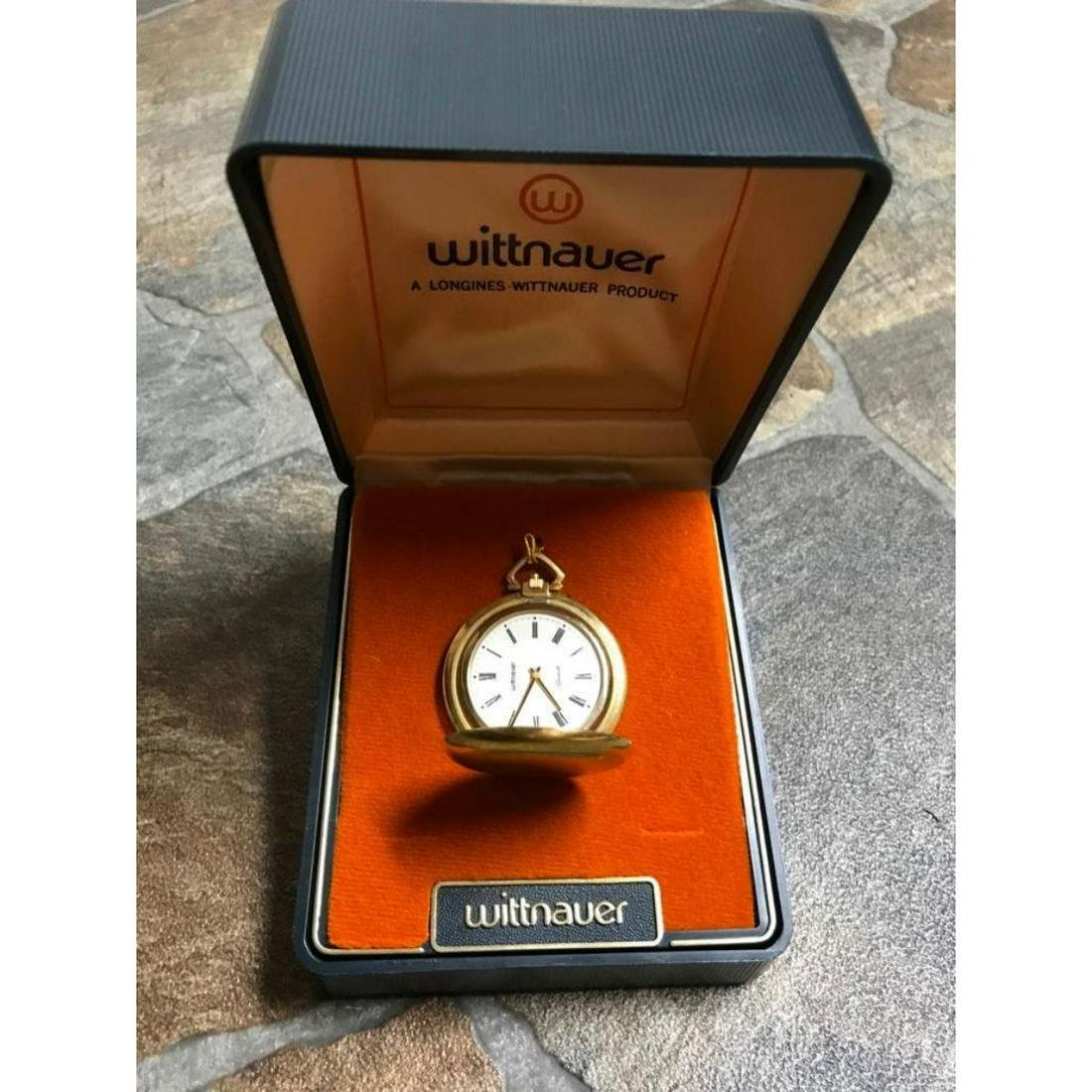 Vintage Wittnauer Longines Gold Pocket Watch With Case