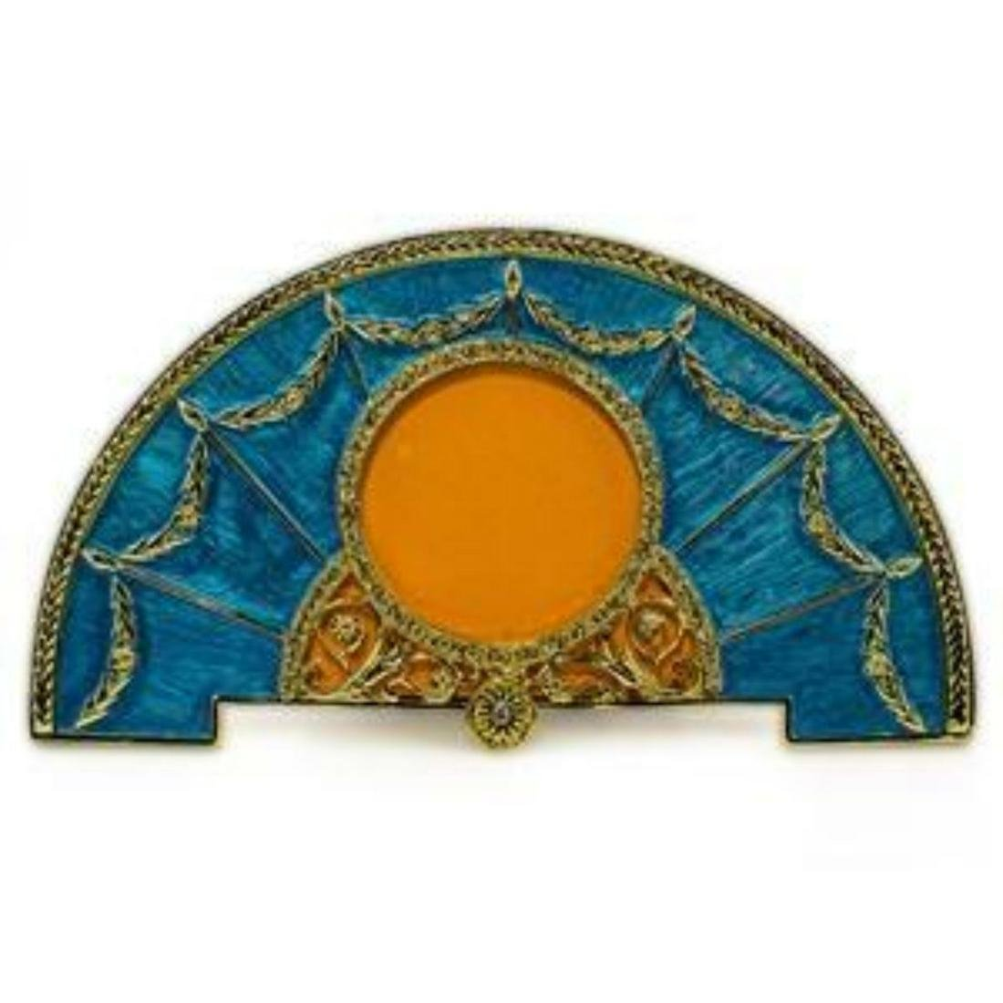 Nourveau-style Semicircular Faberge-Inspired Guilloche