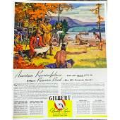 Vintage Gilbert Papers American Explorers Ad