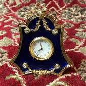 Russian Royal Faberge-style Guilloche Enamel & Gilt