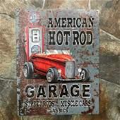 American Hot Rod Garage Street Rods Muscle Cars Metal