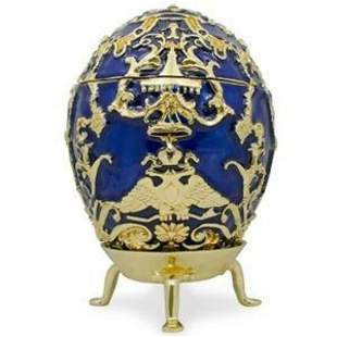 Faberge Inspired 1912 Tsarevich Russian Trinket Jewel