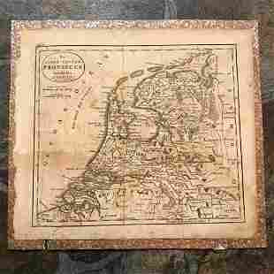 c1800 American Made Map The Seven United Provinces