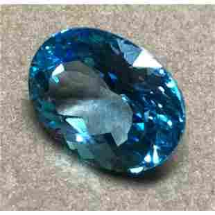 2170ct Oval Facet Swiss Blue Topaz Gemstone