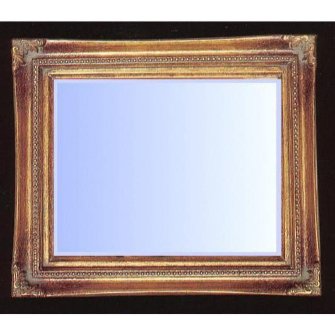 Traditional Gold Gilt Beveled Mirror