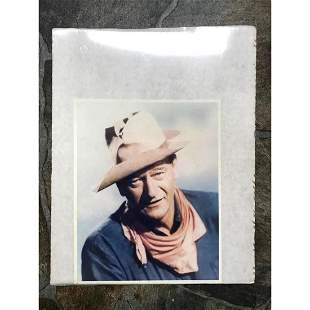 Vintage Colorized Photo of John Wayne Western Movie