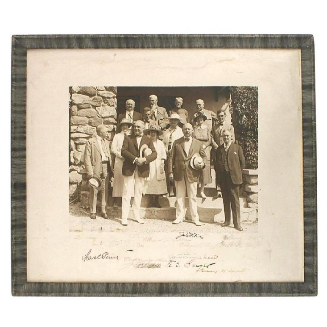 Signed Photo of President Warren G. Harding & Senators