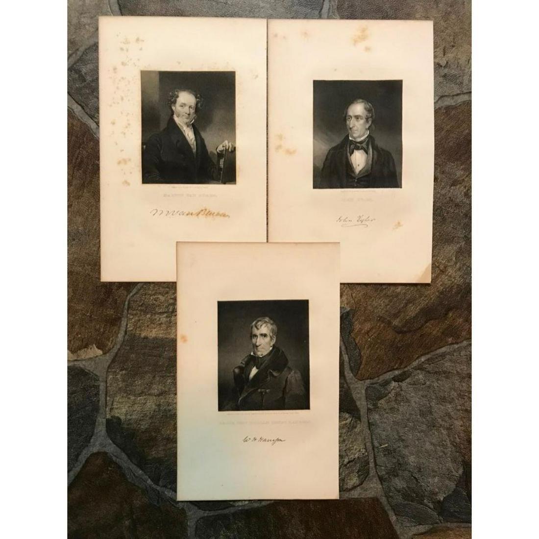 19thc Steel Engravings, United States Presidents, Van