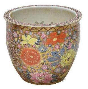 Chinese Famille Rose Parcelgilt Enameled Porcelain