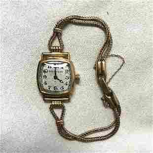 Tiffany Co Midcentury 14kt Gold Wristwatch
