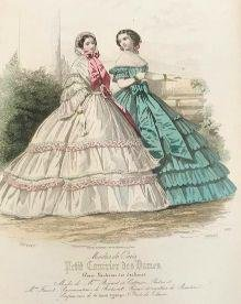 19thc French Hand-colored Engraving, Fashion Plate