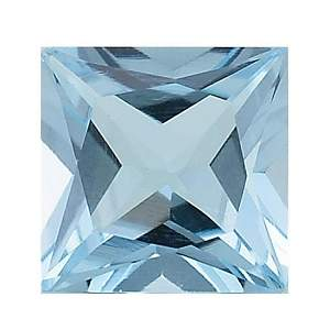 5.73ct Natural Sky Blue Topaz Princess Cut Gemstone