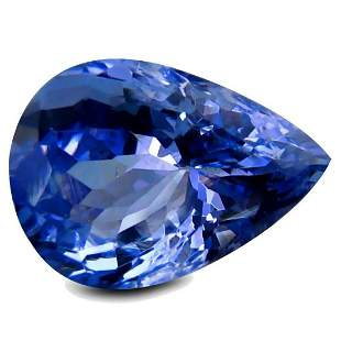 329ct Natural Purple Blue Pear Shaped Tanzanite