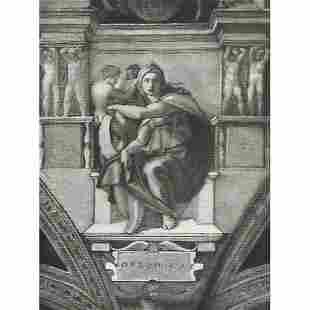 Vintage c1920s Halftone Print 297 Delphic Sibyl