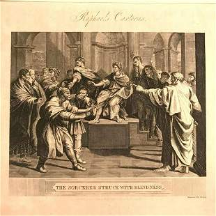 Early 19thc British Engraving After Raphael The