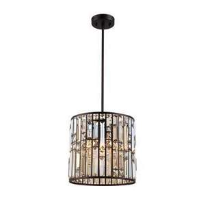 Contemporary Style Crystal Bronze Ceiling Pendant
