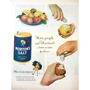 c1950 MidCentury Mortons Salt Fruit Advertisement