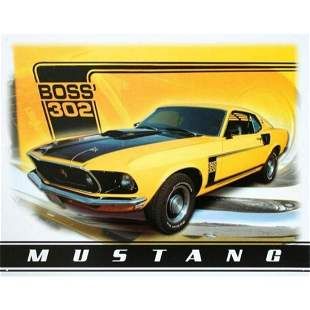 Mustang Boss 302 Ford Motor Company Garage Pub Bar