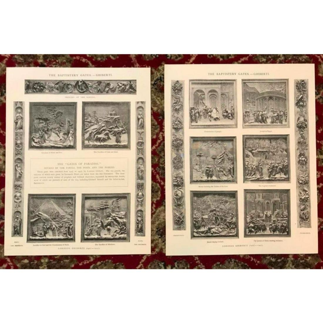 Pair of 19thc Architectural Lithographs, Florence