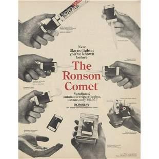 1969 Ronson Comet Butane Lighter Magazine Advertisement