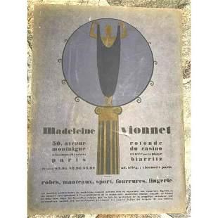 1920s Art Deco Advertisement Paris Designer