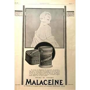 1920s French Magazine Advertisment Parisian Cosmetics