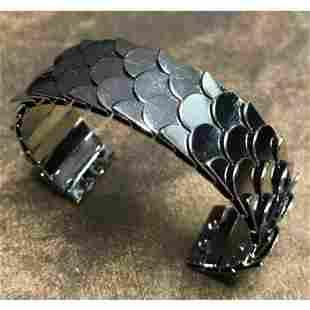 Fashion Runway Style Modern Viking Gunmetal Fish