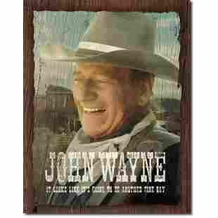 John Wayne Metal Pub Bar Sign