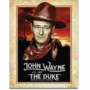 John Wayne The Duke Metal Pub Bar Sign
