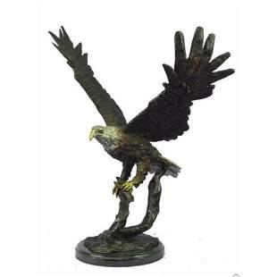 Eagle Landing Bronze Sculpture