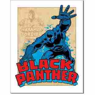 Black Panther Superhero Comics Metal Pub Bar Sign