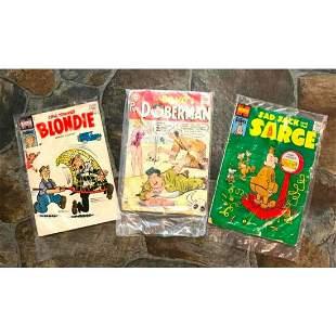 1950s Harvey DC Comic Books Blondie Sad Sack The