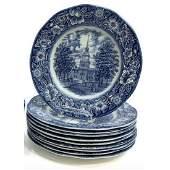 English Staffordshire Blue Transferware Liberty Blue,