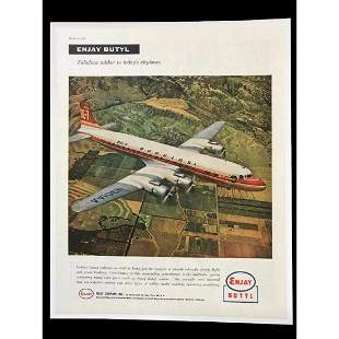 1956 Rubber Company Enjay Butyl Douglas DC7 Airplane