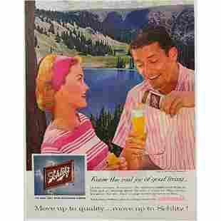 1959 Midcentury Schlitz Milwaukee Beer Magazine