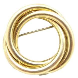 Vintage Signed 12kt Gold Filled Circle Brooch Pin