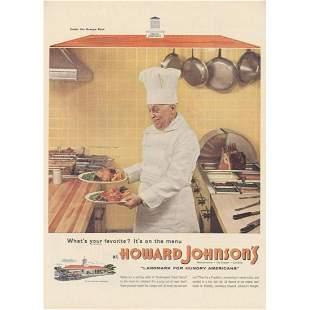 1955 Howard Johnsons Kitchen Magazine Advertisement