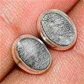 Swedish Meteorite Sterling Silver Post Earrings