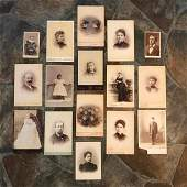Grouping of 19th Century Cabinet Cards Photos of