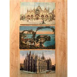 Early 20thc Travel Postcards Europe Monaco Italy