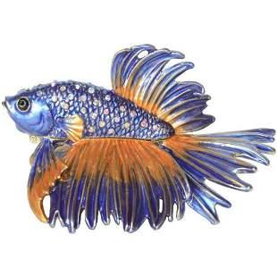 Fighting Beta Fish Trinket Jewel Box